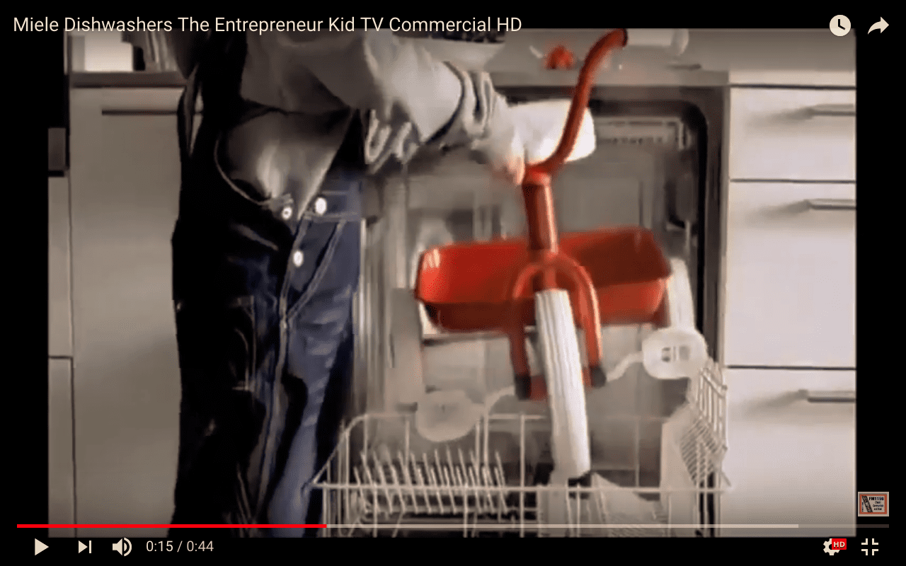 miele dishwasher- creative commercial- just branding